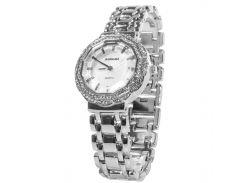 ✸Часы BAOSAILI BSL1029 Silver кварцевые с камнями и стальным браслетом модные часы для девушек