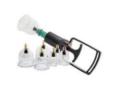 ➀Массажные вакуумные банки Kangfeida A1 с насосом-вакууматором 6 шт. для массажа тела антицеллюлитные