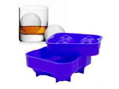 ☜Силиконовая форма CUMENSS Ледяной шар Blue для льда и кейк попсов 4 шт