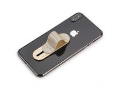 ✓Сдвижной держатель для смартфона Momostick Pear (A-PE-02) Gold на клейкой основе момостик прочное крепление