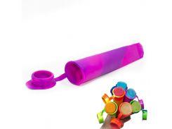 ✦Силиконовая форма CUMENSS N02067 Pink + Purple для мороженого и фруктового льда