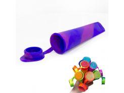 ☀Силиконовая форма CUMENSS N02067 Blue + Purple для мороженого и фруктового льда