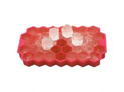 ✦Силиконовая форма для льда CUMENSS Соты Red емкость для хранения льда