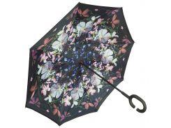 ☇Женский зонт Up-Brella Цветы ручка Hands Free двойное сложение умный зонт ветрозащитный смарт зонт