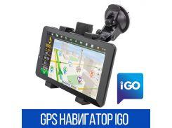 "✮GPS навигатор IGO DVR700PI 7"" IPS экран память 1/16Gb 3G интернет 2SIM Батарея 3000 мАч Android 6.0 с картами"