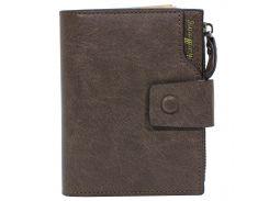 ✪Мужское портмоне Baellerry D1281 Brown стильный бумажник для мужчин отделения для хранения купюр монет