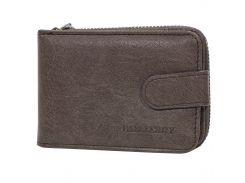 ★Мужское портмоне Baellerry K2078 Brown большое мужской кошелек для визиток карт хранения денег монет