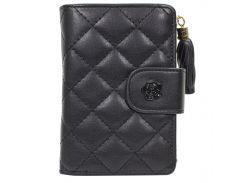 ☝Стильный кошелек Baellerry N1812 Black женский новый на молнии с ремешком компактный для хранения денег карт