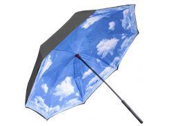 ➘Зонт Up-Brella Голубое небо новинка смарт зонт обратного сложения ручка Hands Free умный зонт