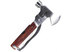 ✓Мультитул Lesko 10-777-22 плоскогубцы молоток Multi hammer мультиинструмент 9 в 1 топор молоток для туриста