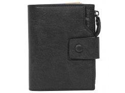 ➤Мужское портмоне Baellerry D1281 Black модный кошелек для мужчин отделения для хранения купюр монет