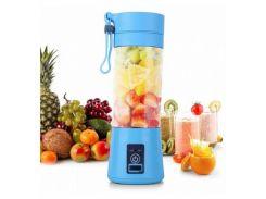 ☂Фитнес-блендер Daiweina Smart Juice Blue шейкер портативный с USB зарядкой для смузи и коктейлей