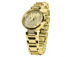✸Наручные часы BAOSAILI KJ805 Gold с камнями модный дизайн Баосаили для женщин и девушек