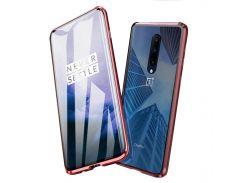 ✩Magnetic case Lesko для смартфона OnePlus 7 Red магнитный чехол стеклянная панель магнитный замок