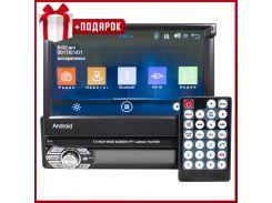 """☛ Автомагнитола Lesko 9601A с выдвижным экраном 7"""" сенсор Bluetooth Wi Fi GPS антенна 1/16 Gb Android*"""