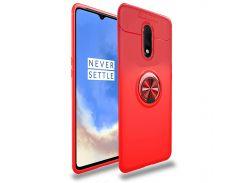 ➾Силиконовая накладка C-KU SM02 Red для смартфона OnePlus 7 защитный чехол магнитный держатель с подставкой