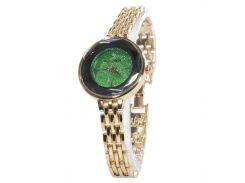 ☄Часы Pollock Jewel Green круглые кварцевые женские стальные аксессуар для девушек