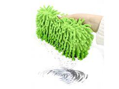 Автомобильная губка для мытья машины Lesko 11*23*5.5 см Green пористая с впитывающим эффектом
