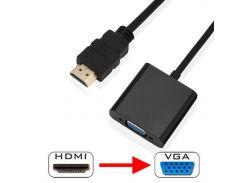 Переходник Lesko HDMI-VGA универсальный для подключения телевизора монитора видеокарты