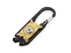 Мультитул 20в1 Pocket Multi Tools карманный брелок, линейка, зачистка проводов, карабин, отвертка, стропорез
