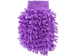 Рукавица для мытья авто Lesko 45-2A/008 Purple бережное очищение мойка машины сухая/влажная уборка