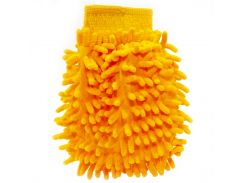 Рукавица для мытья авто Lesko 45-2A/008 Orange бережное очищение мойка машины сухая/влажная уборка