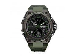 Часы мужские SANDA 739 Green спортивные влагозащищенные наручные кварцевые военные