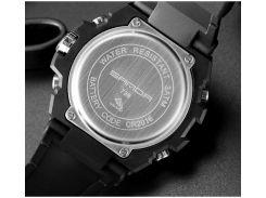 Часы мужские SANDA 739 Black спортивные влагозащищенные наручные кварцевые военные