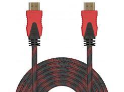 Кабель мультимедийный Lesko HDMI/HDMI 10m шнур универсальный hd 1080p видео для компьютера телевизора