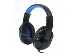 Мультимедийная гарнитура SOYTO SY733MV Черно-Синяя для компьютера с микрофоном USB игровая универсальная