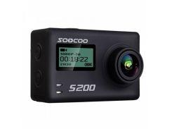 "Экстремальная экшн-камера SOOCOO S200 Black 2.45"" спортивная Wi-Fi Ultra HD 4K microSD Батарея 1250 мАч"