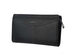 Мужской кошелек Baellerry S1002 Black горизонтальный стильное портмоне для мужчин на змейке