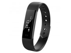➤Фитнес браслет Smart Band ID115 Black наручный с шагомером отображением времени