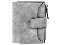 ➨Женский кошелек замшевый Baellerry N2347 Grey удобный и компактный аксессуар для девушки вместительный