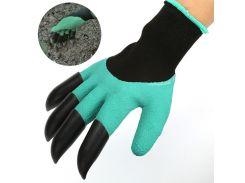 ➨Резиновые перчатки с когтями Garden Genie Gloves для работы с землей садовые с пластиковыми наконечниками