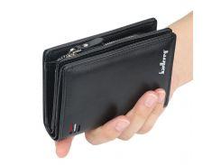 Мужской кошелек Baellerry D3216 Black тренд сезона мужской аксессуар Байлери компактный для хранения денег