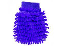 Рукавица для мытья авто Lesko 45-2A/008 Blue бережное очищение мойка машины сухая/влажная уборка