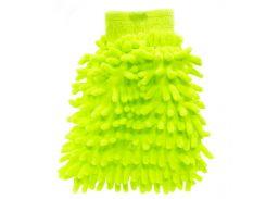 Рукавица для мытья авто Lesko 45-2A/008 Green бережное очищение мойка машины сухая/влажная уборка