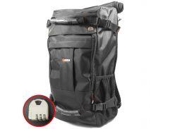 Рюкзак-сумка дорожная для путешествий KAKA 2050 D Black спортивная туристический кодовый замок 40л трансформер