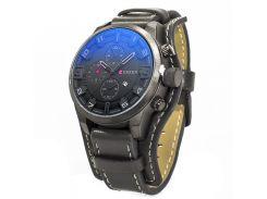 Спортивные часы CURREN 8225 Black двойной механизм стальной корпус влагозащищенные для мужчин кварцевые