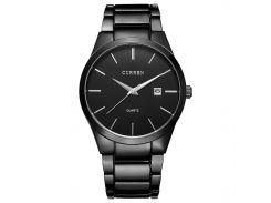 Наручные часы CURREN 8106 Black стальной ремешок кварцевый механизм фирменные влагозащищенные
