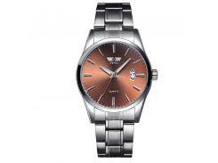 Часы мужские SWIDU SWI-021 Silver + Brown стальные кварцевый механизм нержавеющий корпус