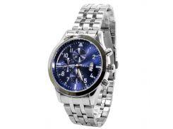 Часы SWIDU SWI-081 Silver + Blue влагозащищенные Quartz механизм нержавеющий корпус стальные мужские
