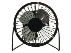 ✓Настольный USB вентилятор Fan Mini Sanhuai A18 Black универсальный для охлаждения с регулятором положения