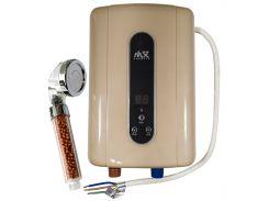 Проточный водонагреватель c душем Nux XA-F60 Gold с цифровым дисплеем IPX4 5500В 50Гц электрический бойлер