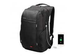 """Рюкзак городской Kingsons KS3140W Black 15.6"""" с USB-разъемом влагозащищенный потайной карман боковые карманы"""