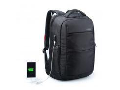 """Рюкзак городской Kingsons KS3142W Black 15.6"""" вместительный с USB зарядкой отделение для ноутбука устойчивый"""