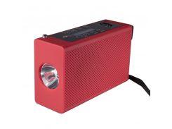 Фонарь Haoyi HY-018 Красный Led с колонкой, динамо машиной и встроенным аккумулятором