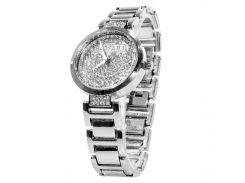 ☟Часы BAOSAILI KJ805 Silver элегантные с камнями наручные женские с кварцевым механизмом