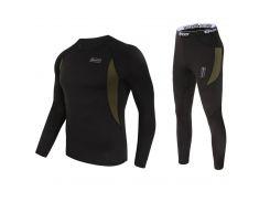 Термобелье ESDY A152 XL Black мужское спортивное теплое нижнее белье стрейч ветрозащитное флисовое